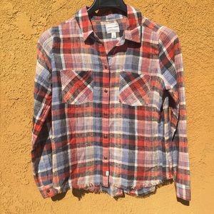 Melrose and Market plaid shirt long sleeve
